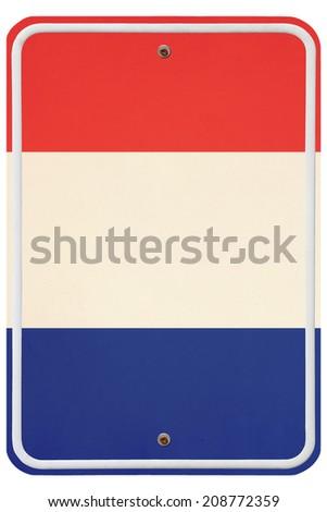 Vintage Netherlands metal sign - stock photo