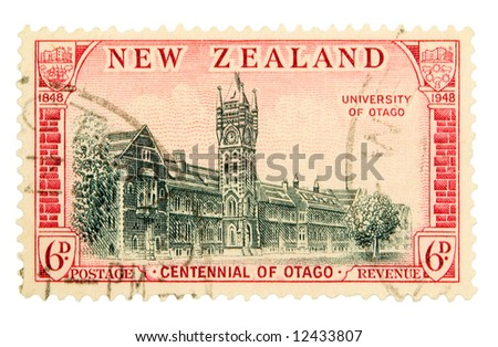 Vintage New Zealand Postage Stamp