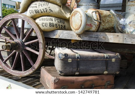 Vintage - Nostalgia - Travel preparations - Travel luggage and supplies  / Nostalgia - Travel preparations