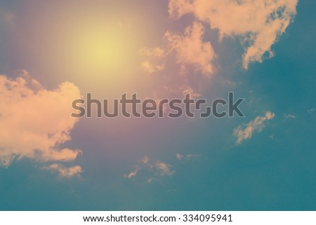 Vintage of cloud and sky background. - stock photo