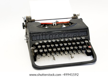 vintage office typewriter
