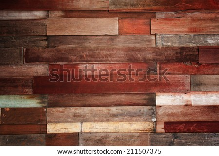 vintage old and grunge wood panels background - stock photo
