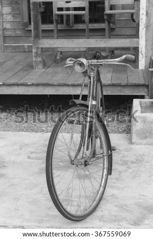 vintage old bicycle.