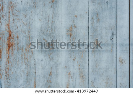 Vintage Old Blue Wood Wall For text and background - stock photo