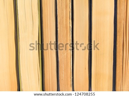 Vintage old book background - stock photo