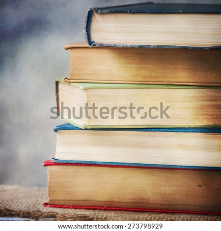 Vintage old books - stock photo