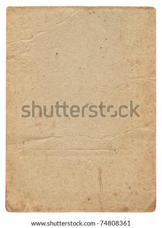 Vintage old cardboard background - stock photo