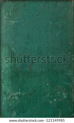 vintage old dark green book cover texture - stock photo