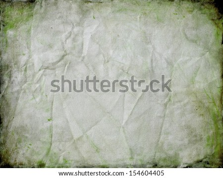 vintage old paper background green border texture for rustic country western or ancient manuscript with creased and cracked edge illustration or vintage Christmas background - stock photo