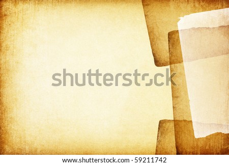 Vintage old papers abstract background. With space for text or image. - stock photo