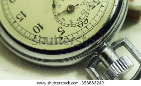 Vintage old stopwatch