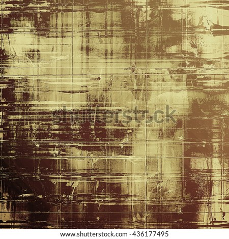 Vintage old-style texture, worn and rough grunge background with different color patterns: yellow (beige); brown; gray; black - stock photo