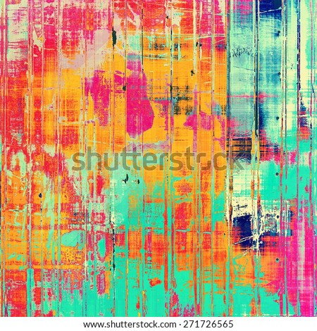 Vintage old texture for background. With different color patterns: yellow (beige); blue; pink; red (orange) - stock photo