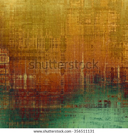Vintage old texture for background. With different color patterns: yellow (beige); brown; gray; green - stock photo