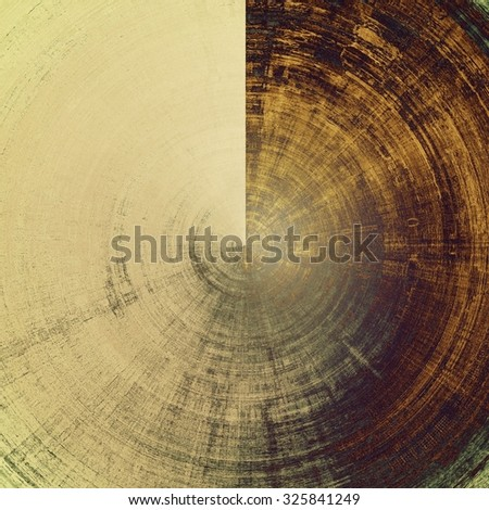Vintage old texture for creative retro background. With different color patterns: yellow (beige); brown; green; gray - stock photo