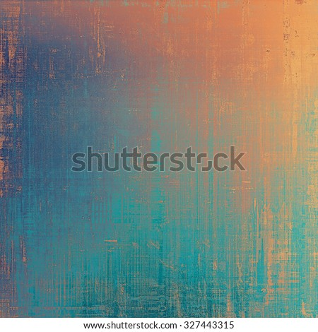 Vintage old texture for creative retro background. With different color patterns: yellow (beige); brown; blue; red (orange) - stock photo