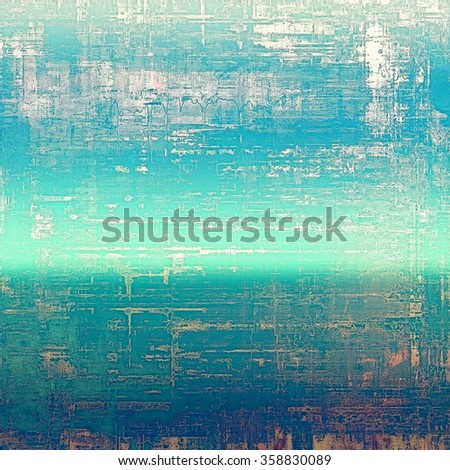 Vintage old texture with space for text or image, distressed grunge background. With different color patterns: yellow (beige); blue; cyan; white - stock photo