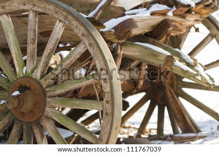 Vintage old west wooden wagon