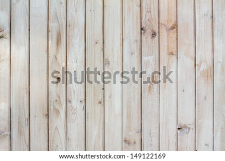Vintage old white wooden planks wall background - stock photo