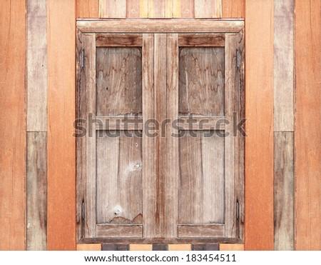 Vintage old window wood background  - stock photo