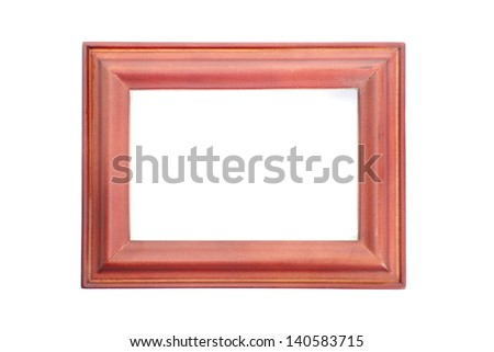 vintage old wood photo frame - stock photo