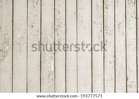 Vintage old wooden fence