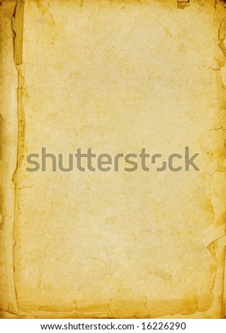 Vintage open book with soft shades on white
