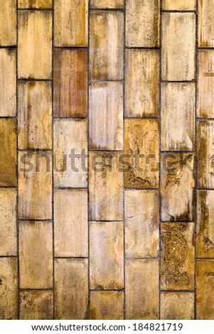 Vintage or grungy background wall tile, stone old texture as a retro pattern wall. This concept, conceptual or metaphor wall banner, grunge, material, age, rust