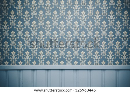 Vintage ornament wallpaper background wall - stock photo