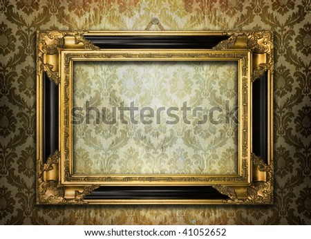Vintage ornate frame - stock photo