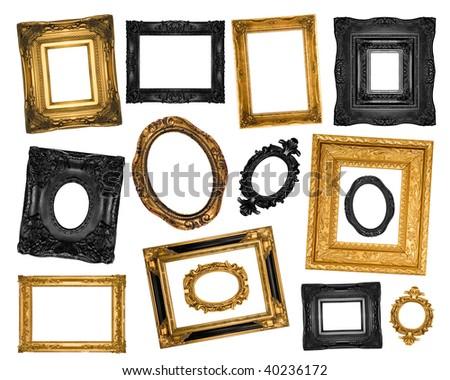 Vintage ornate frames - stock photo