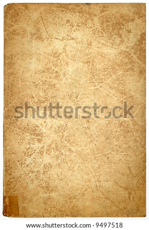 vintage paper background, bookcover provisionary held together with a piece of tape