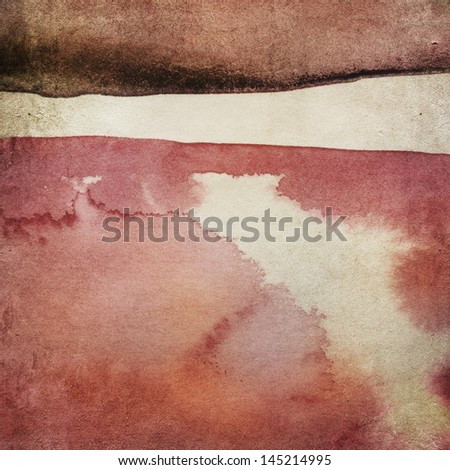 Vintage paper background with watercolors - stock photo