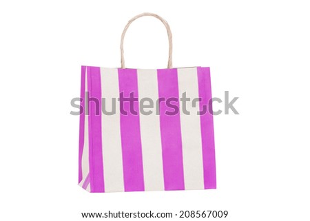 Vintage paper bag isolated on white background  - stock photo