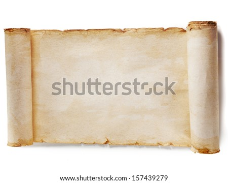 vintage paper blank surface isolated on a white background