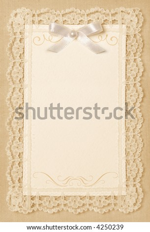 vintage paper card - stock photo