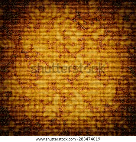 vintage paper card with Flowers in victorian style, paper background for your message - stock photo