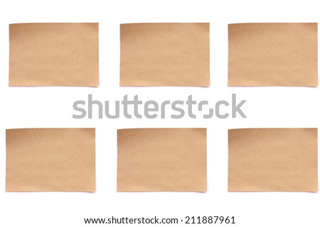 Vintage Paper isolated  on white background Stock Image