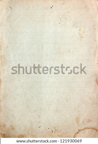 Vintage paper texture with stains - stock photo