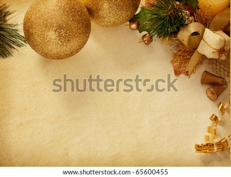 vintage  paper textures. Christmas decoration.  Old worn paper - stock photo