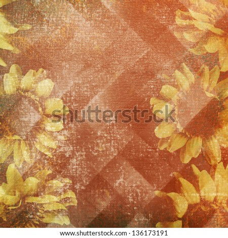 vintage paper with flowers