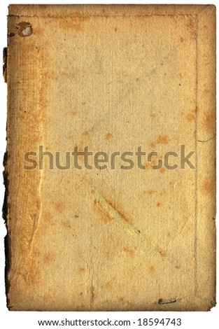 Vintage paper with grainy rough surface - isolated on white