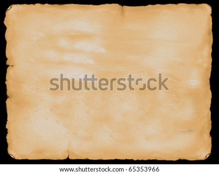Vintage paper with torn edges - stock photo