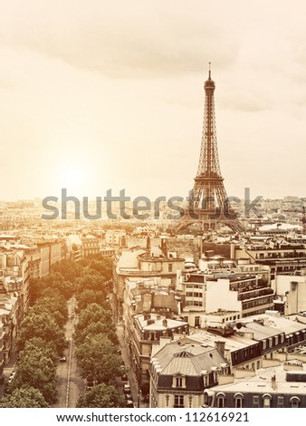 Vintage Paris - stock photo