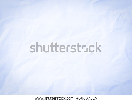 Vintage pastel blue and white color paper texture background. pastel blue color creased paper background texture. vintage concept. black tone on corner. Vignette effect on paper concept. note write - stock photo