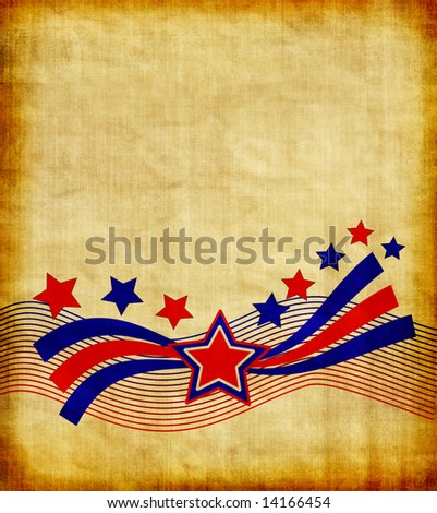Vintage Patriotic Background Design