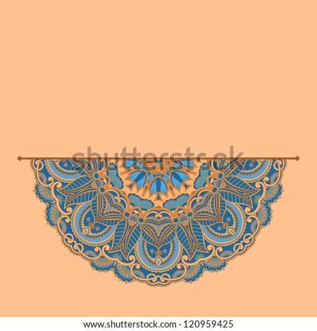Vintage pattern for greeting card. Raster version. - stock photo