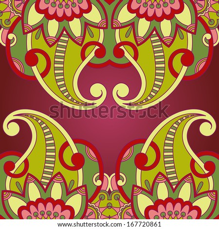 Vintage pattern for print, embroidery (you can use this pattern for carpet, shawl, pillow, cushion). Raster version.