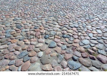 vintage pavement tile - stock photo