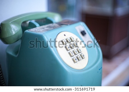 vintage phone - stock photo